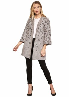cupcakes and cashmere Women's Kline Tonal Leopard Cardigan w/Bell Sleeves