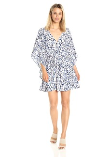 cupcakes and cashmere Women's Lakeside Ace Geo Printed Kaftan Belt Dress