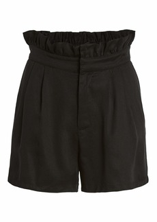 cupcakes and cashmere Women's Leah High Waisted Paper Bag Short