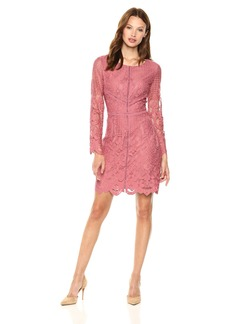 cupcakes and cashmere Women's Makenna Fitted Lace Dress