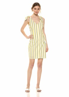 cupcakes and cashmere Women's Marguerite Stripe Dress with Shoulder Ties
