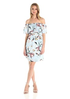 cupcakes and cashmere Women's Potter Floral Off The Shoulder Dress
