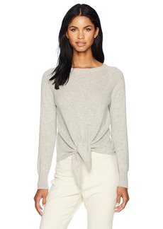 cupcakes and cashmere Women's Rimona Cashmere Crew Tie Front Sweater