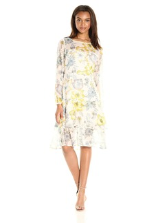 cupcakes and cashmere Women's Rome Floral Printed Midi Dress