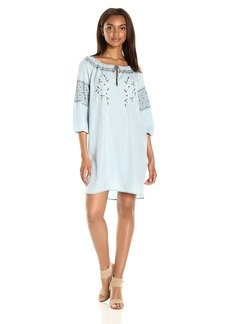 cupcakes and cashmere Women's rosabel Embroidered Shift Dress