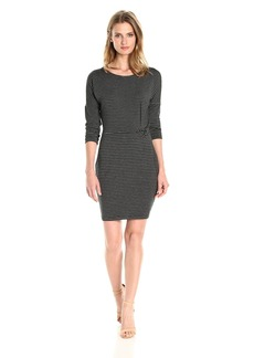 cupcakes and cashmere Women's Rylin Bodycon Knit Yarn Dyed Striped Dress