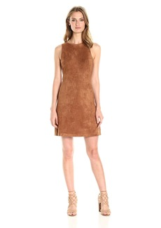 cupcakes and cashmere Women's Savi Faux Suede Sleeveless Fit and Flare Dress