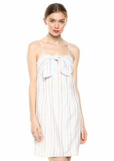 cupcakes and cashmere Women's Soleil Yarn dye Multi Strap Shift Dress with tie Detail