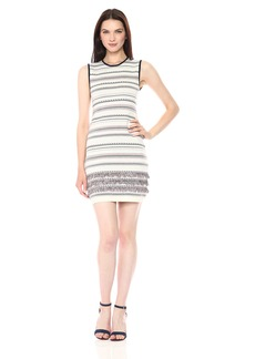 cupcakes and cashmere Women's Sonata Bodycon Dress with Fringe Stripe