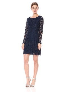 cupcakes and cashmere Women's Spence Lace Fit N Flare Dress