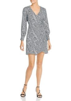 cupcakes and cashmere Women's Virgo Leopard Soft Satin Wrap Dress