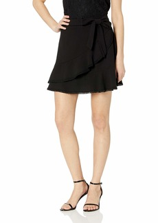 cupcakes and cashmere Women's Zetta Faux wrap Heavy Crepe Skirt
