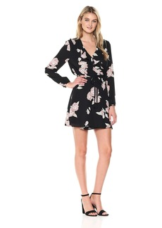 cupcakes and cashmere Women's Zora Floral Printed Wrap Dress