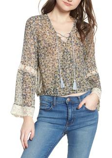 cupcakes and cashmere Zilla Floral Blouse