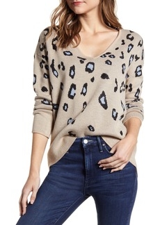 cupcakes and cashmere Zoe Leopard Sweater