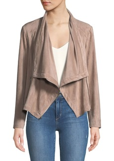 cupcakes and cashmere Holt Lace-Up Cowl-Neck Moto Jacket