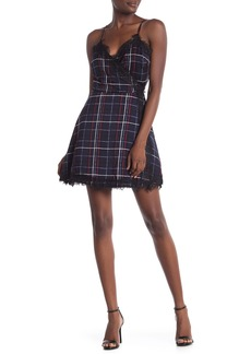 cupcakes and cashmere Ivan Lace Plaid Wrap Dress