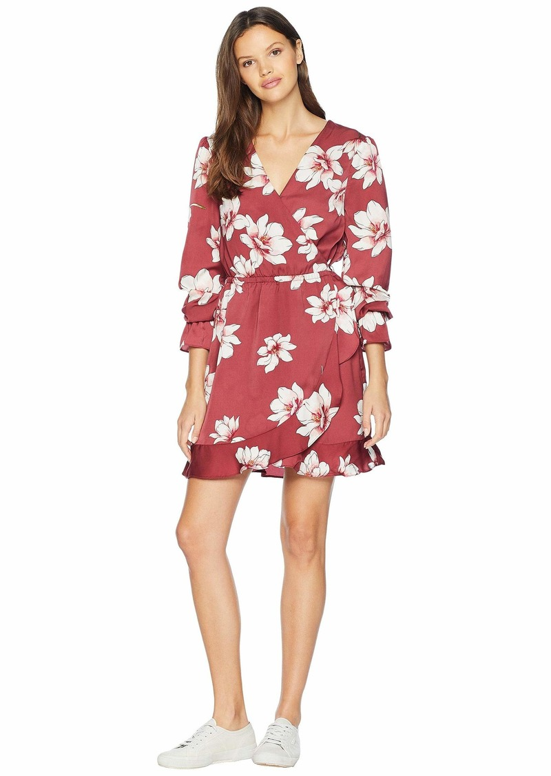 cupcakes and cashmere Jarrett Printed Wrap Dress