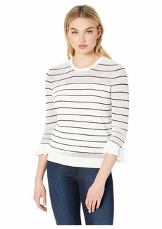 cupcakes and cashmere Liana Lightweight Striped Sweater