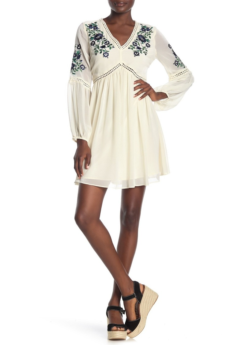 cupcakes and cashmere Lynsey Floral Embroidered Bohemian Dress