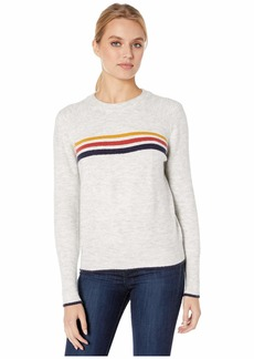 cupcakes and cashmere Mikayla Stripe Detail Pullover w/ Rib Yoke