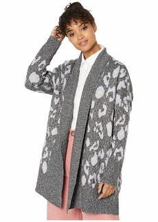 cupcakes and cashmere Molly Leopard Jacquard Cardigan