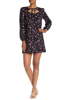 cupcakes and cashmere Odele Floral Cutout Shift Dress
