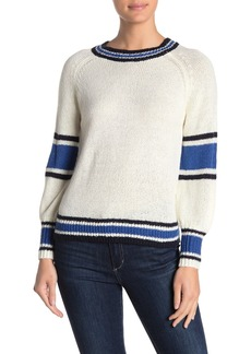cupcakes and cashmere Pipper Striped Mock Neck Sweater