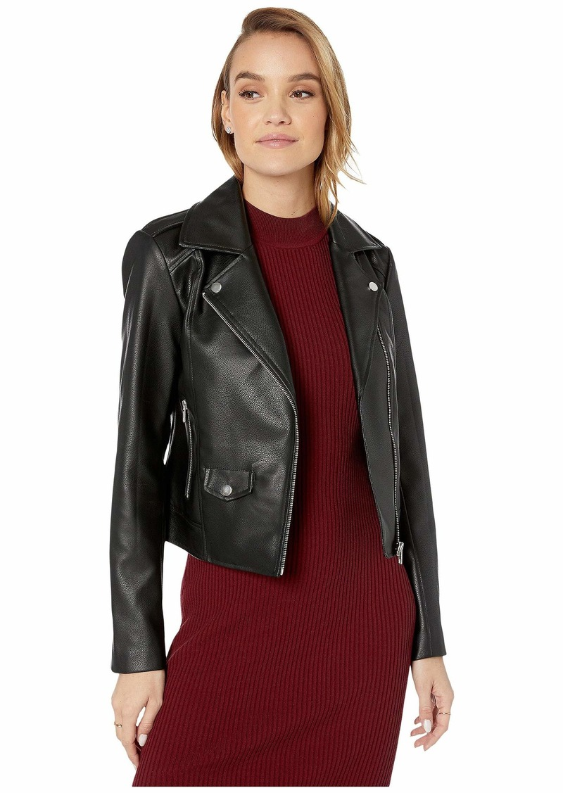 cupcakes and cashmere Roxy Faux Leather Moto Jacket