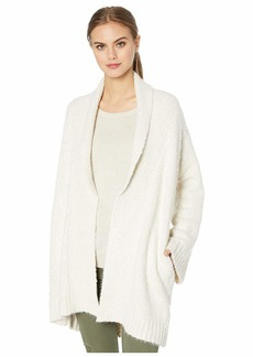 cupcakes and cashmere Ryder Boucle Oversized Shawl Collar Cardigan