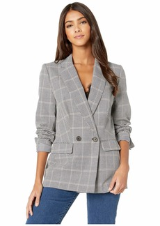 cupcakes and cashmere Thames Houndstooth Double Breasted Boyfriend Blazer