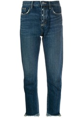 Current/Elliott straight-leg cropped jeans