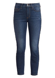 Current/Elliott Chain-Trim Skinny Jeans
