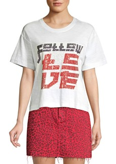 Current/Elliott Clary Sequin Graphic Tee