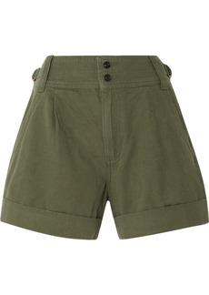 Current/Elliott Cotton And Linen-blend Twill Shorts
