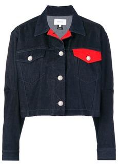Current/Elliott cropped boxy denim jacket