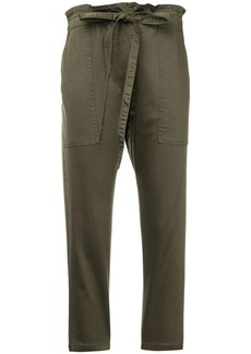Current/Elliott cropped paperbag waist trousers