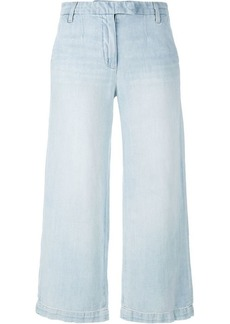 Current/Elliott cropped wide leg jeans