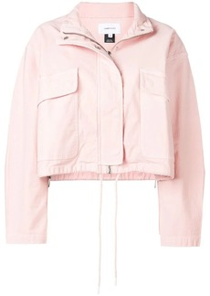 Current/Elliott cropped zip-up jacket