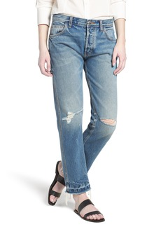 Current/Elliott Current/Elliot The Throwback Original Straight Leg Jeans (Ryle Destroy)