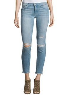 Current/Elliott The Stiletto Distressed Skinny Ankle Jeans