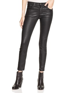 Current/Elliott Coated Stiletto Jeans in Black