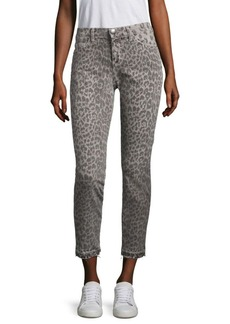 Current/Elliott Leopard-Print Ankle Pants