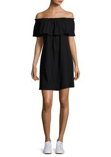 Current/Elliott Cotton Ruffle Off-The-Shoulder Dress