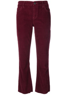 Current/Elliott cropped corduroy trousers - Red