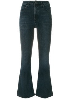 Current/Elliott cropped flared jeans - Blue