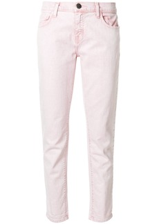 Current/Elliott cropped straight-leg jeans - Pink & Purple