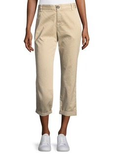 Current/Elliott Cropped Straight-Leg Trousers