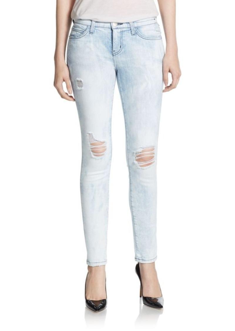Current/Elliott Distressed Ankle Skinny Jeans