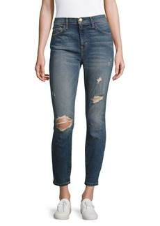 Current/Elliott Faded Distressed Jeans